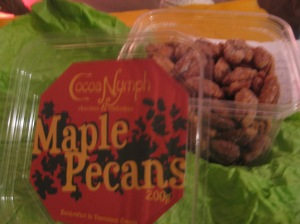 Maple Pecans, from Cocoa Nymph Chocolates & Confections