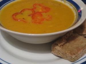 pumpkin carrot beet soup