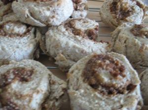 Enough cinnamon rolls to last a few days!  Or, um, one.