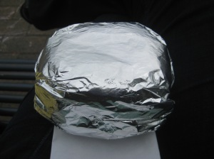 Love, in a foil-wrapped package.