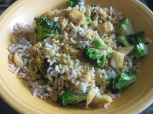 ...or generously spooned over a quick bowl of brown rice, tofu, and broccoli.