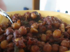 Not to be forgotten...bbq'd chickpeas.