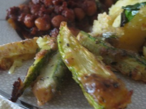 ...along with baked zucchini fries...